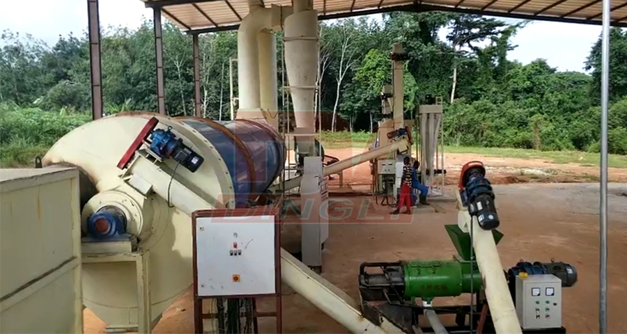Coted D'Ivoire organic fertilizer drying pellet equipment